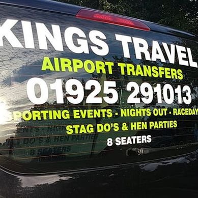 a kings travel 8 seater bus